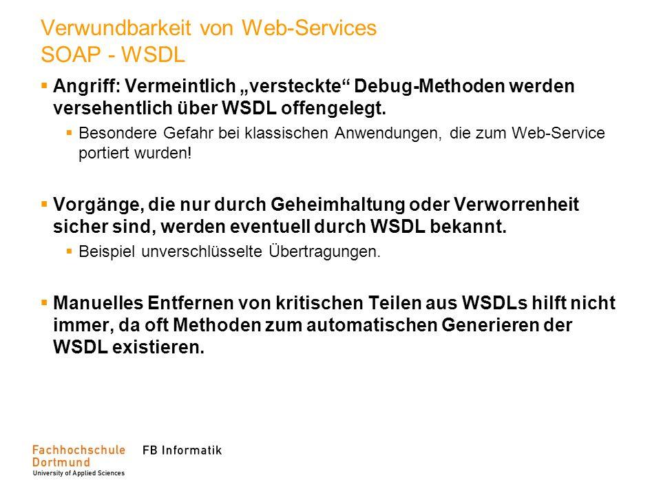Verwundbarkeit von Web-Services SOAP - WSDL