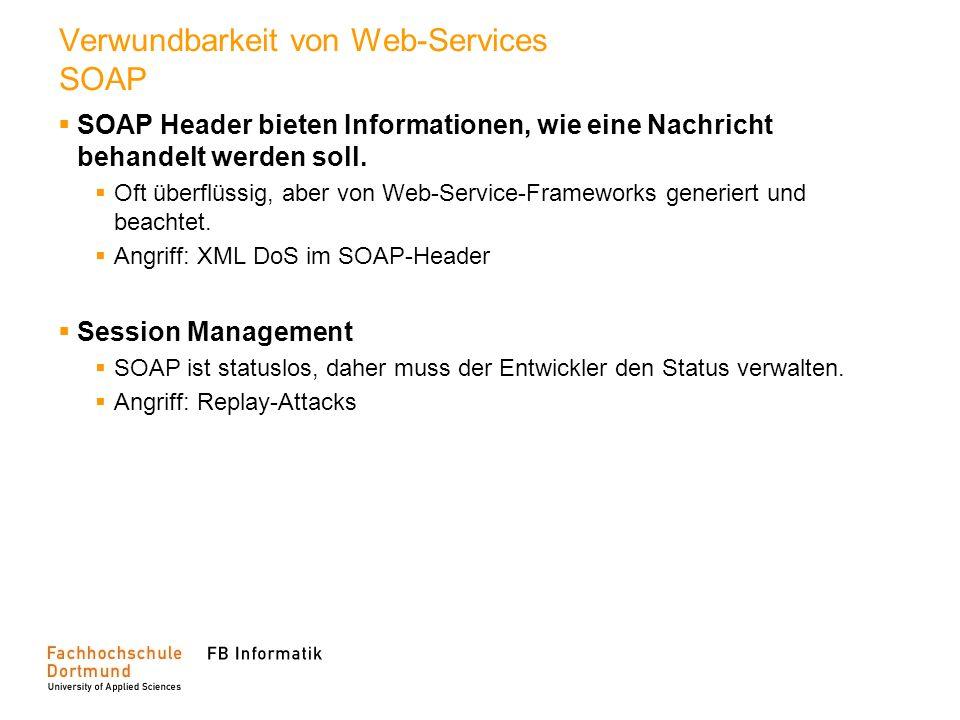 Verwundbarkeit von Web-Services SOAP