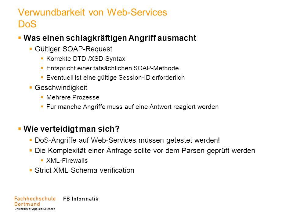 Verwundbarkeit von Web-Services DoS
