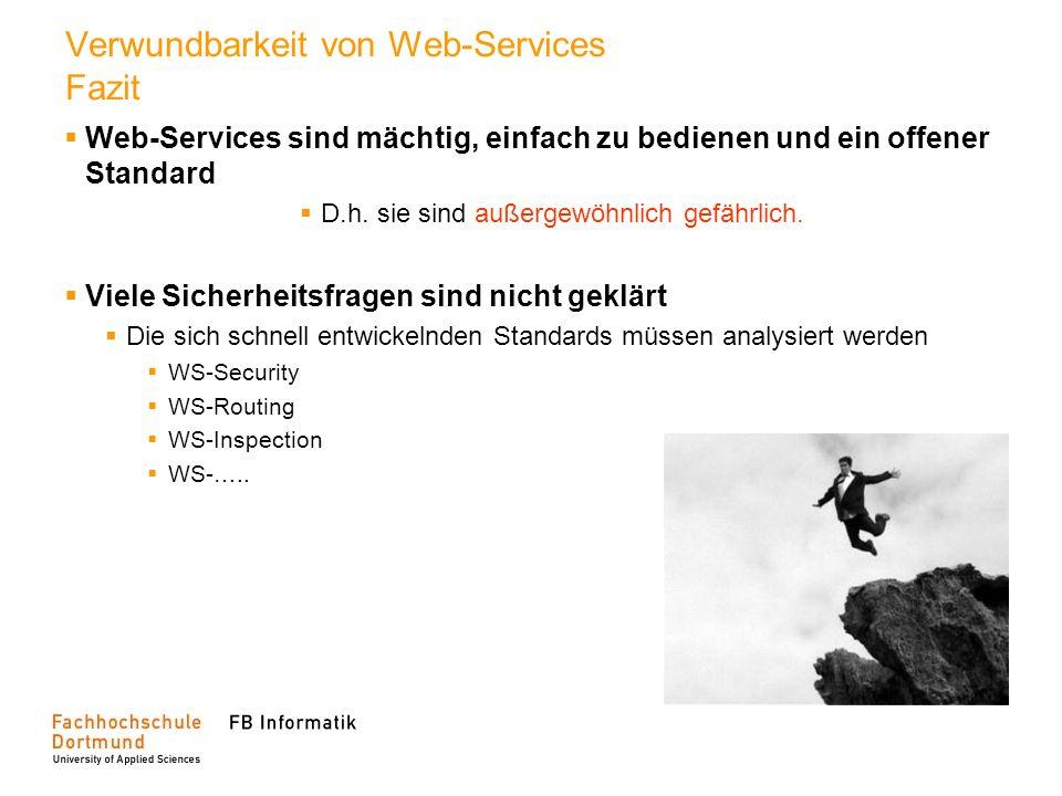Verwundbarkeit von Web-Services Fazit