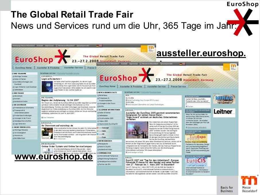 The Global Retail Trade Fair News und Services rund um die Uhr, 365 Tage im Jahr: