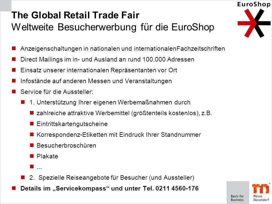 The Global Retail Trade Fair Weltweite Besucherwerbung für die EuroShop