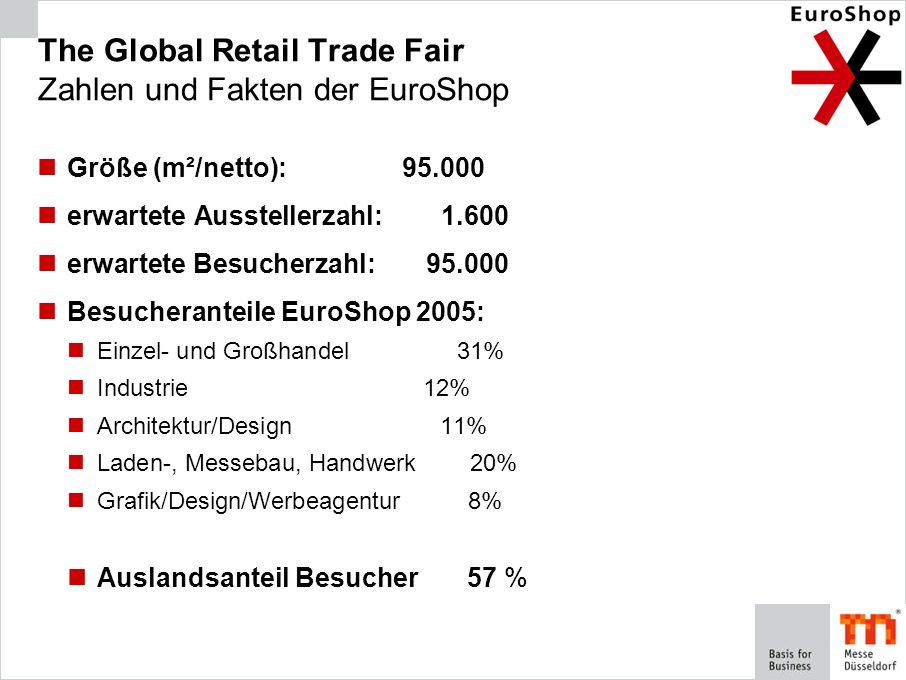 The Global Retail Trade Fair Zahlen und Fakten der EuroShop