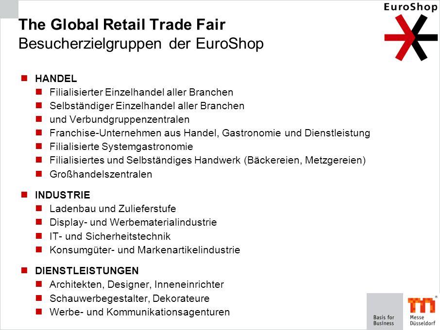 The Global Retail Trade Fair Besucherzielgruppen der EuroShop
