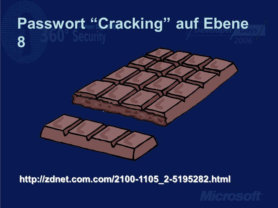 Passwort Cracking auf Ebene 8