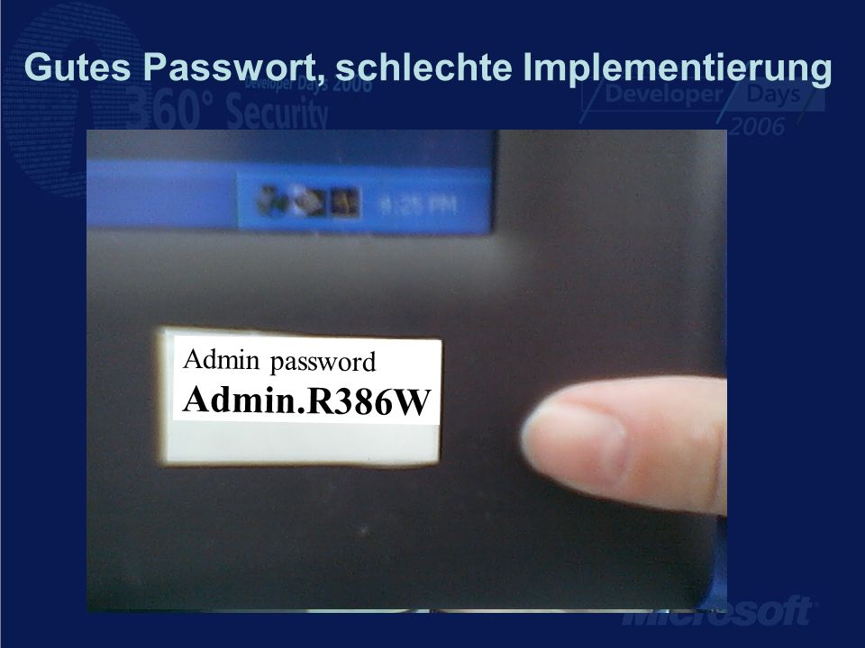 Gutes Passwort, schlechte Implementierung