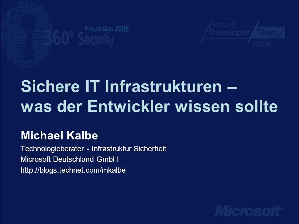 Sichere IT Infrastrukturen – was der Entwickler wissen sollte