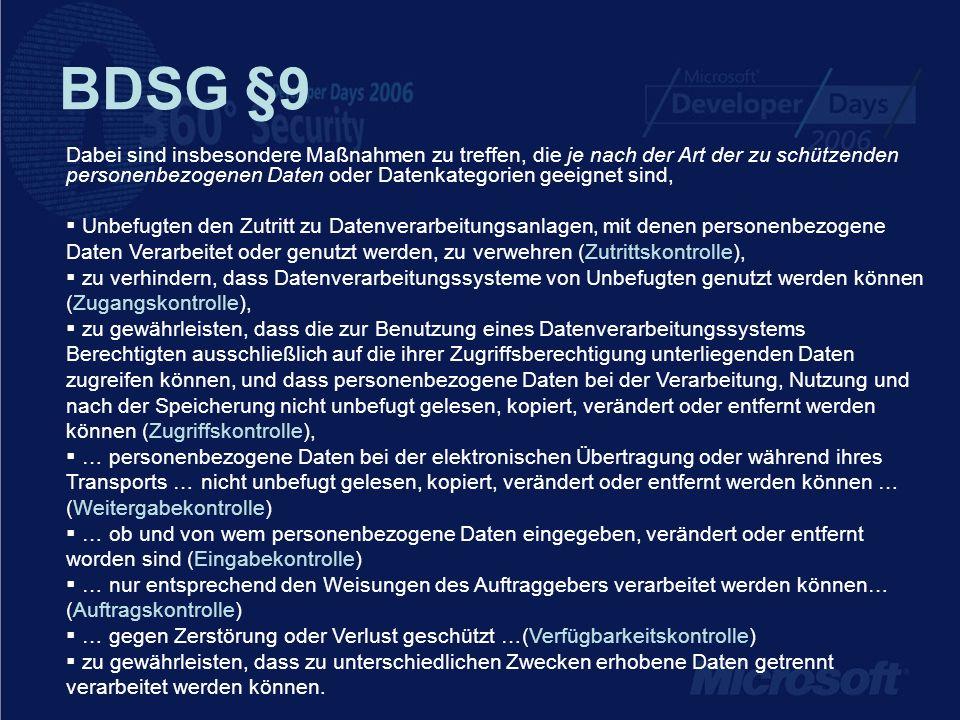 BDSG §9