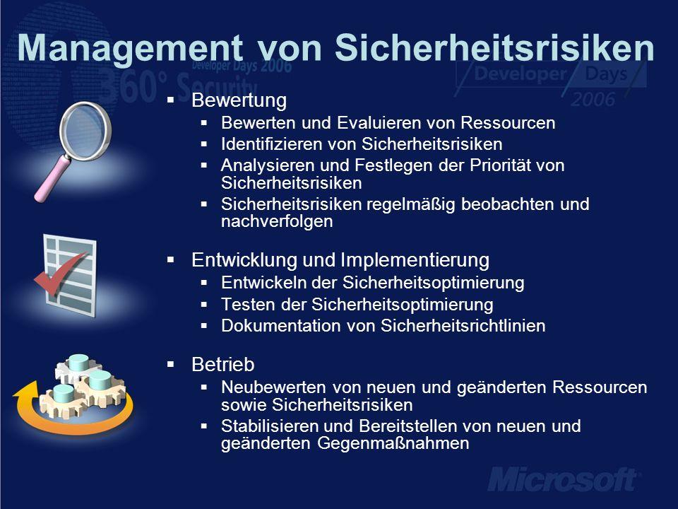 Management von Sicherheitsrisiken