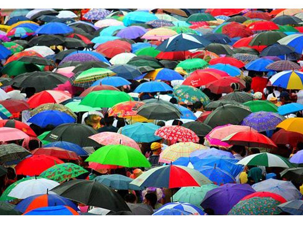 ... gibt es viele bunte Schirme...