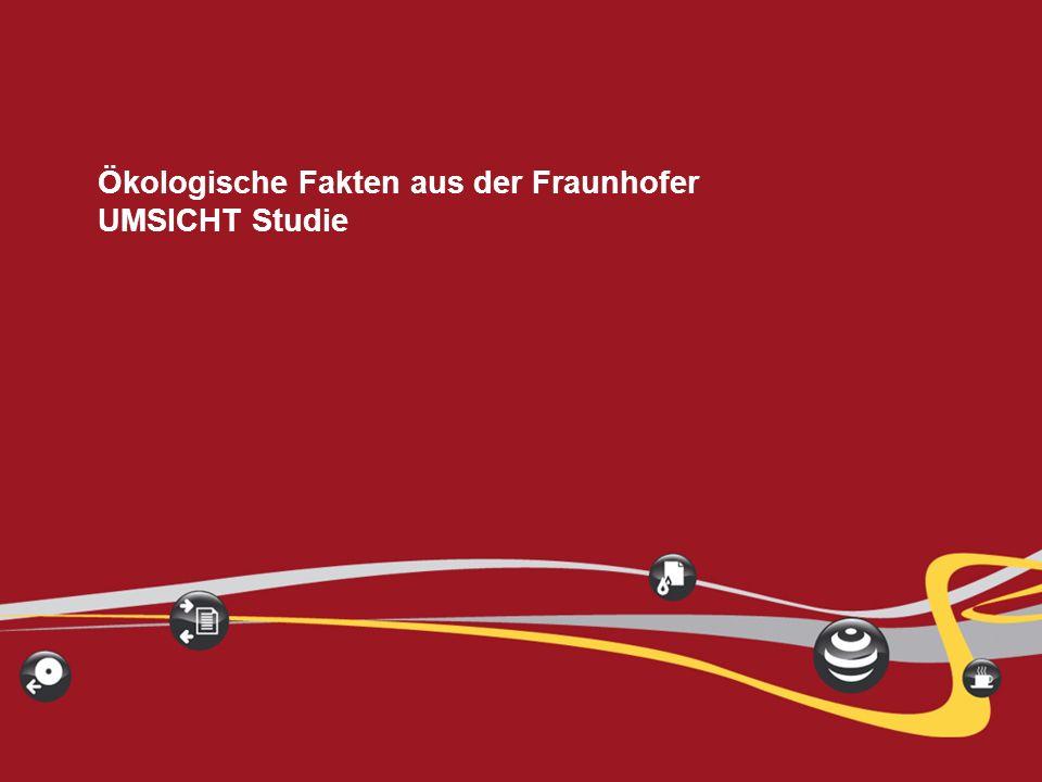 Ökologische Fakten aus der Fraunhofer UMSICHT Studie