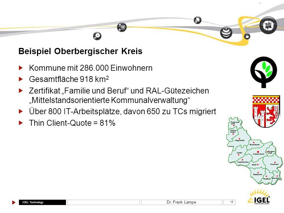 Beispiel Oberbergischer Kreis