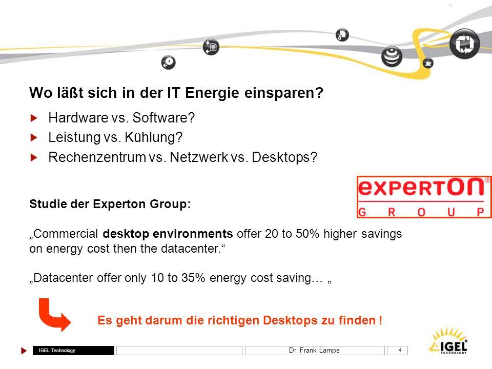 Wo läßt sich in der IT Energie einsparen