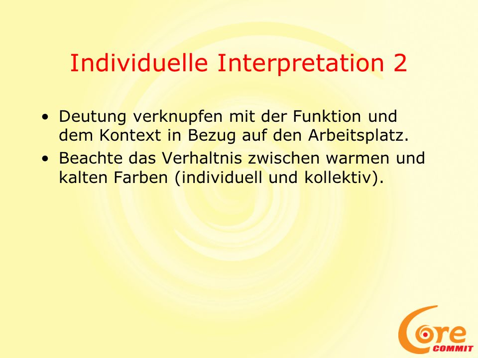Individuelle Interpretation 2