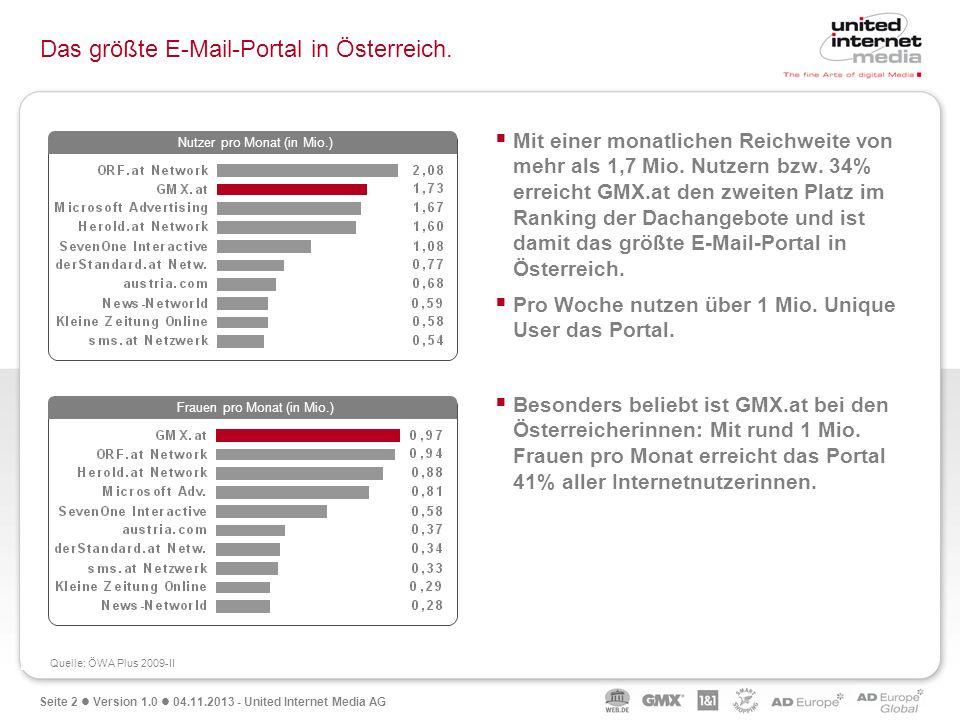 Das größte E-Mail-Portal in Österreich.