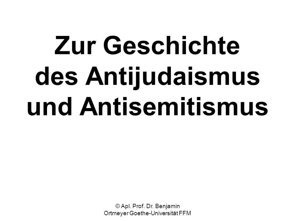 Zur Geschichte des Antijudaismus und Antisemitismus