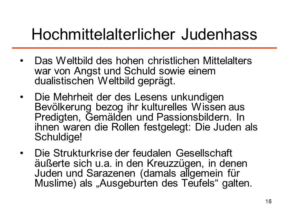 Hochmittelalterlicher Judenhass