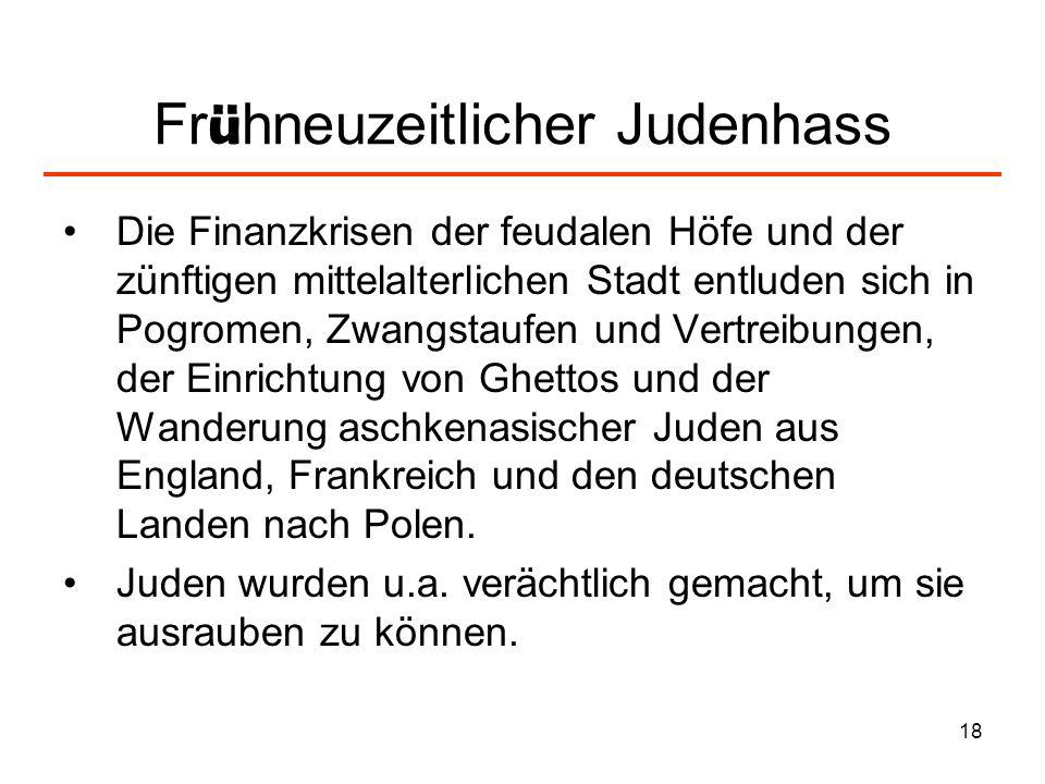 Frühneuzeitlicher Judenhass