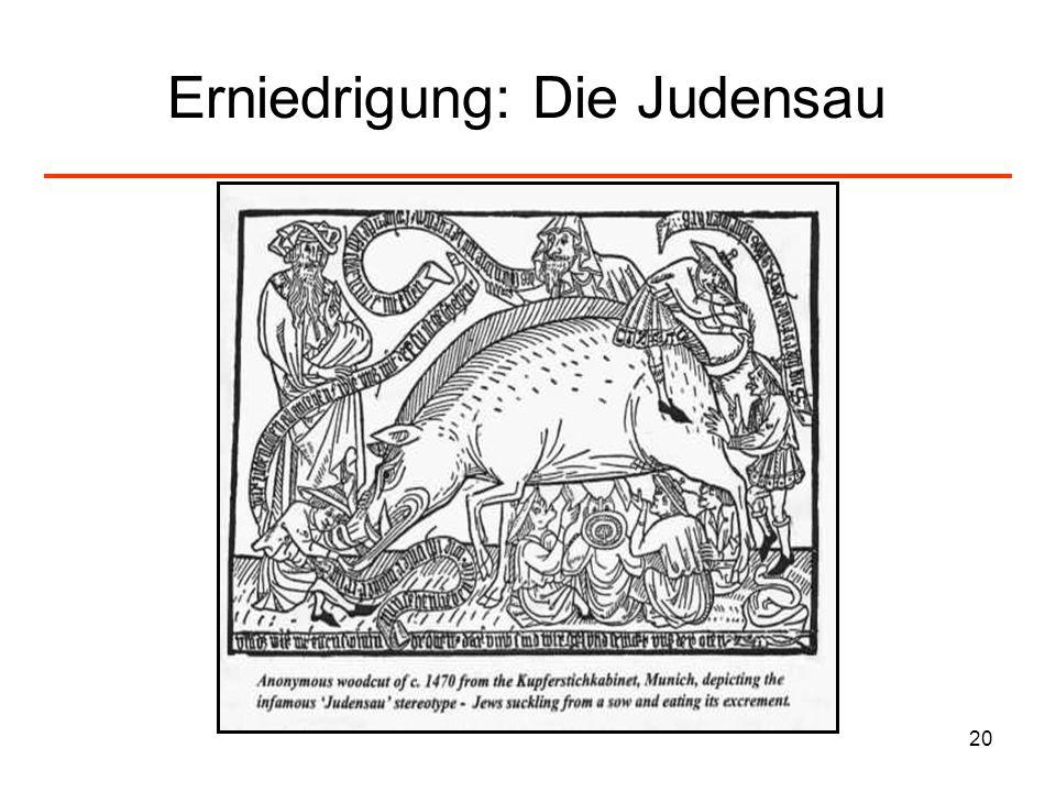 Erniedrigung: Die Judensau