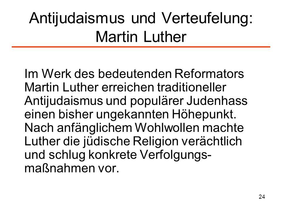 Antijudaismus und Verteufelung: Martin Luther