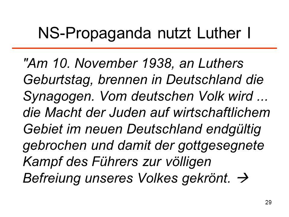 NS-Propaganda nutzt Luther I