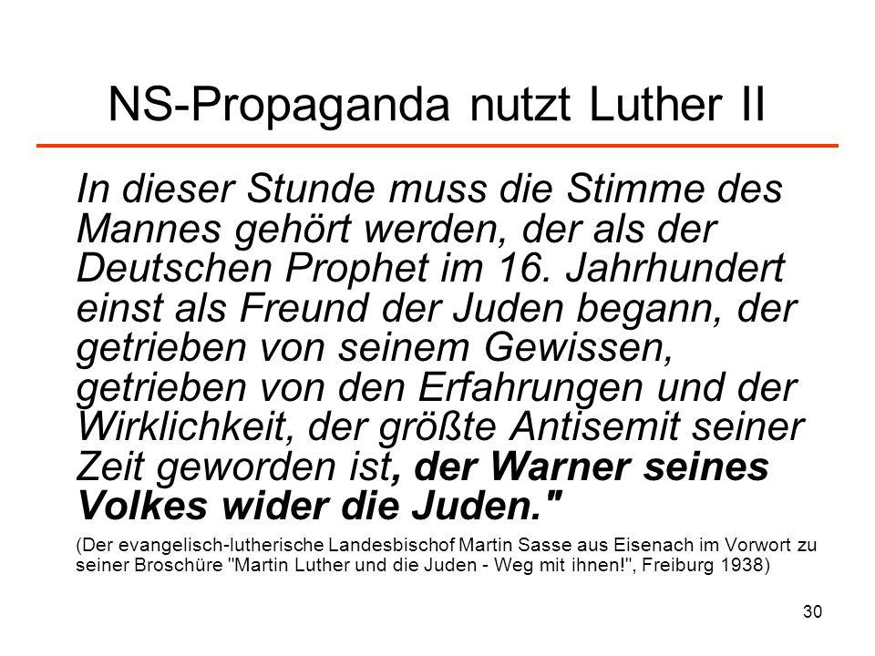 NS-Propaganda nutzt Luther II