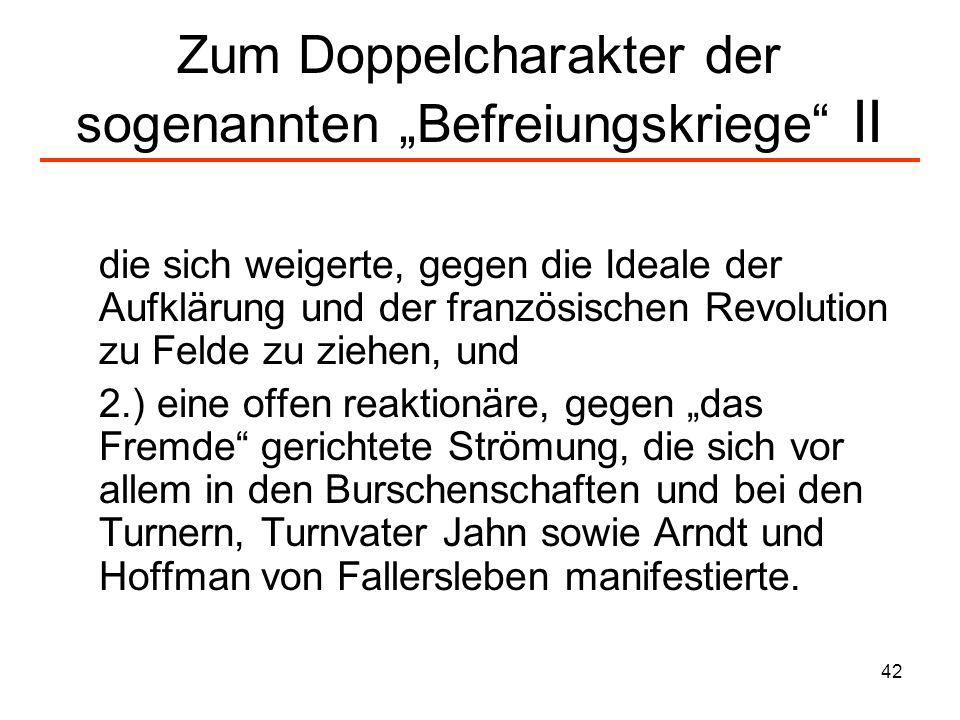"""Zum Doppelcharakter der sogenannten """"Befreiungskriege II"""
