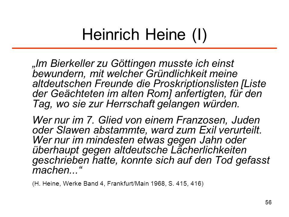 Heinrich Heine (I)