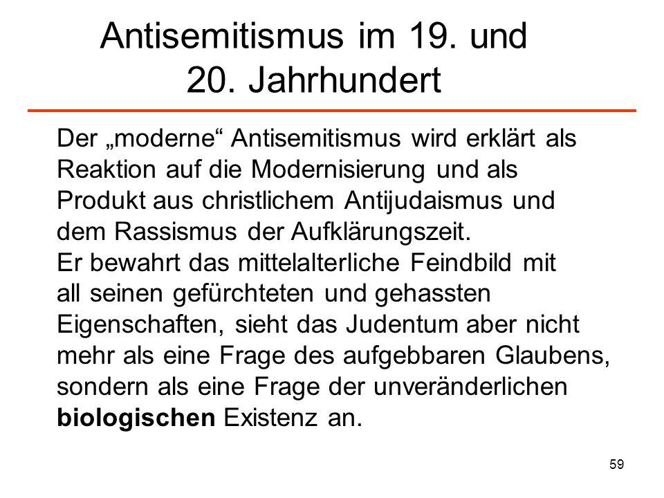 Antisemitismus im 19. und 20. Jahrhundert