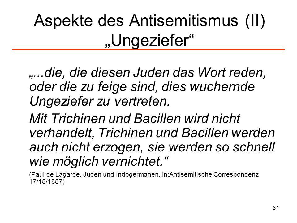 """Aspekte des Antisemitismus (II) """"Ungeziefer"""