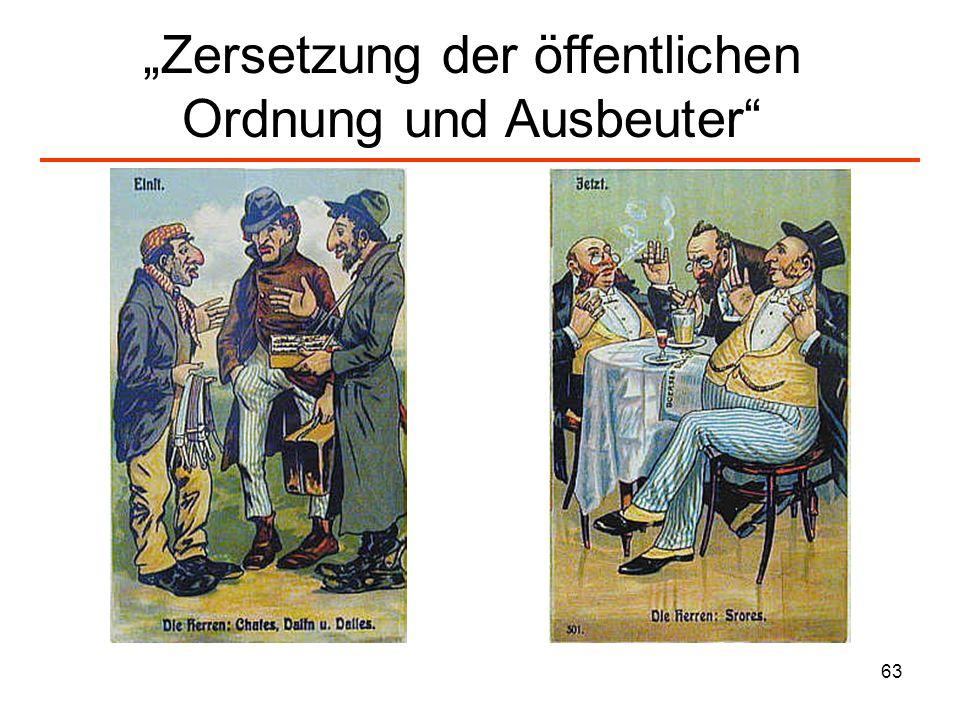 """""""Zersetzung der öffentlichen Ordnung und Ausbeuter"""