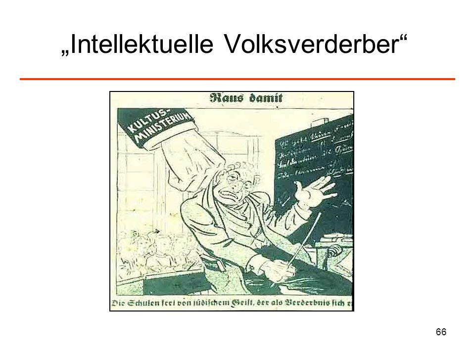 """Intellektuelle Volksverderber"