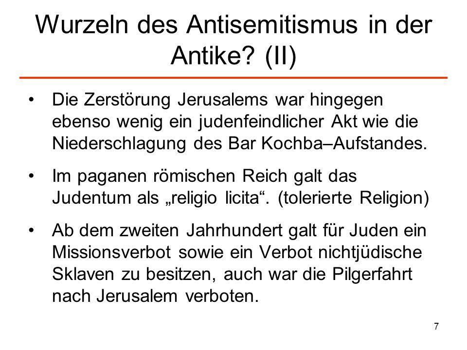 Wurzeln des Antisemitismus in der Antike (II)