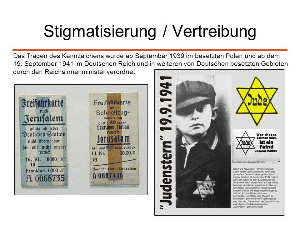 Stigmatisierung / Vertreibung