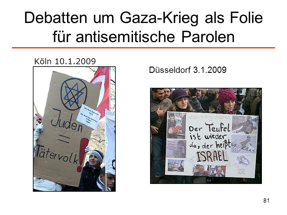 Debatten um Gaza-Krieg als Folie für antisemitische Parolen