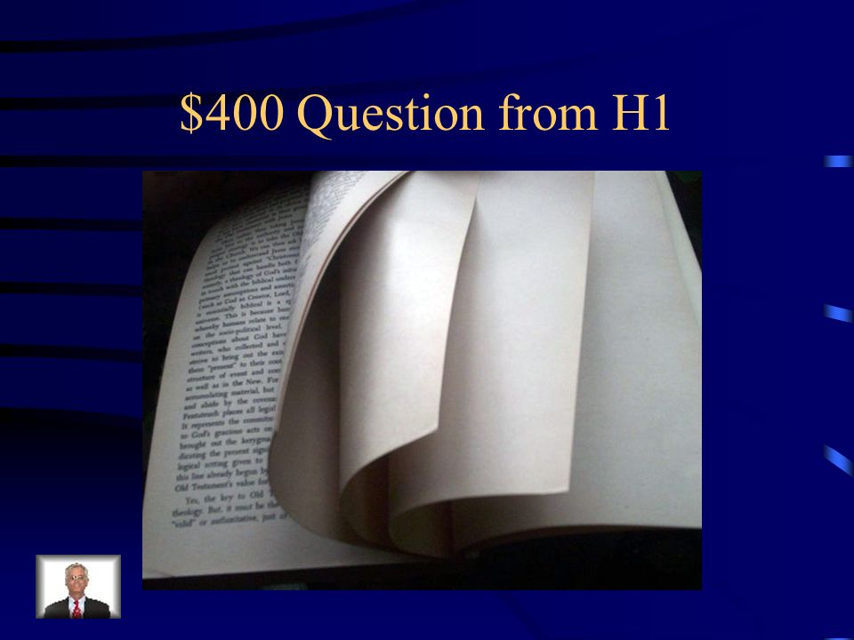 $400 Question from H1