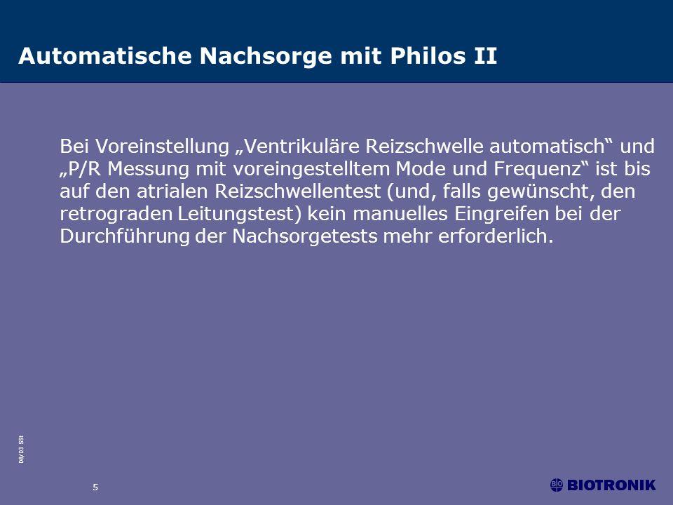 Automatische Nachsorge mit Philos II