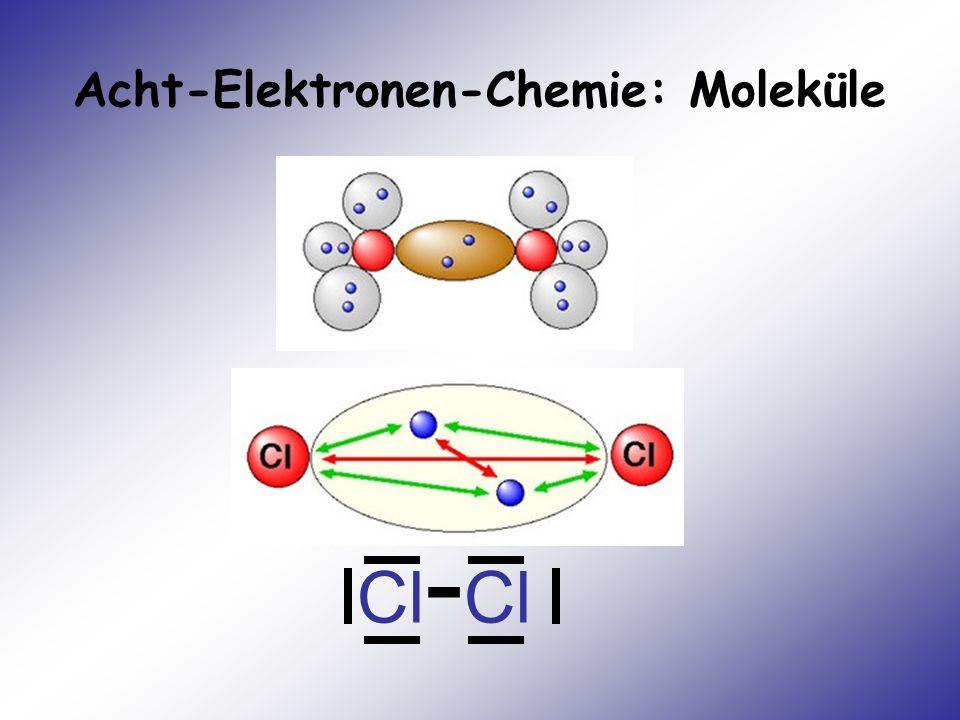 Acht-Elektronen-Chemie: Moleküle