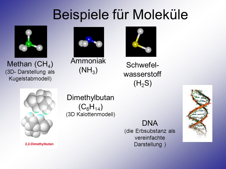 Beispiele für Moleküle