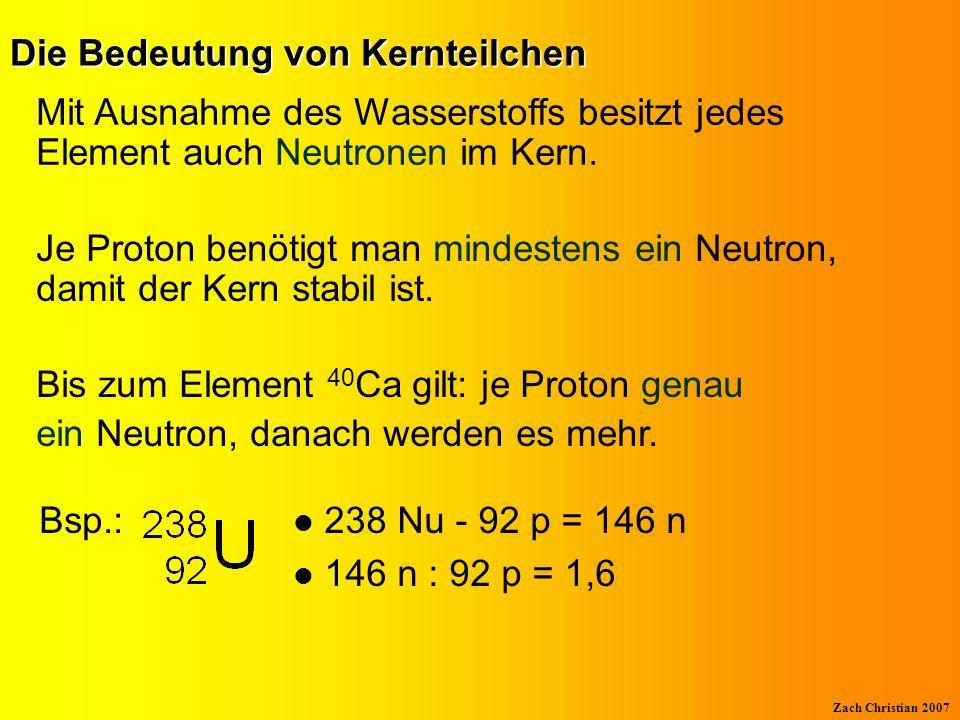 Die Bedeutung von Kernteilchen