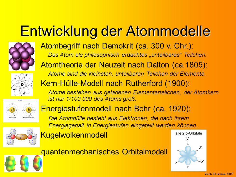 Entwicklung der Atommodelle