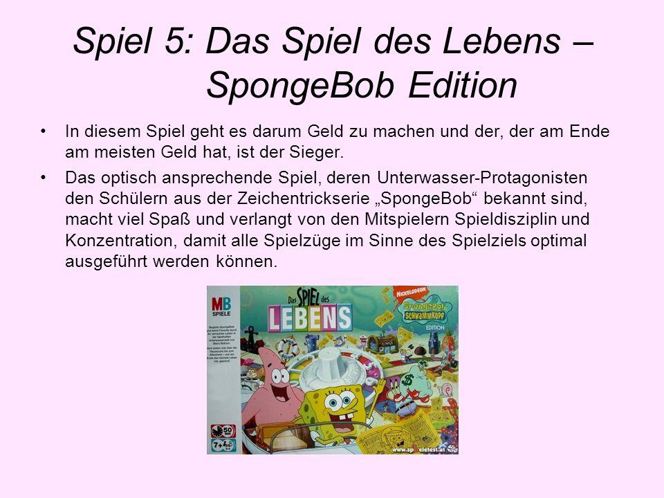 Spiel 5: Das Spiel des Lebens – SpongeBob Edition