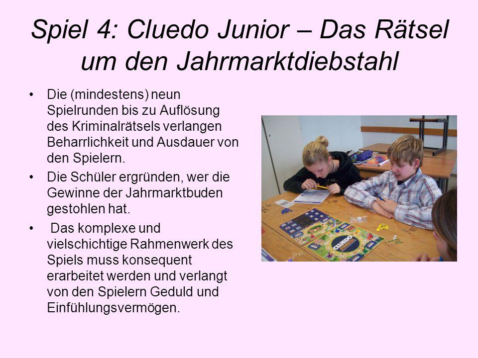 Spiel 4: Cluedo Junior – Das Rätsel um den Jahrmarktdiebstahl