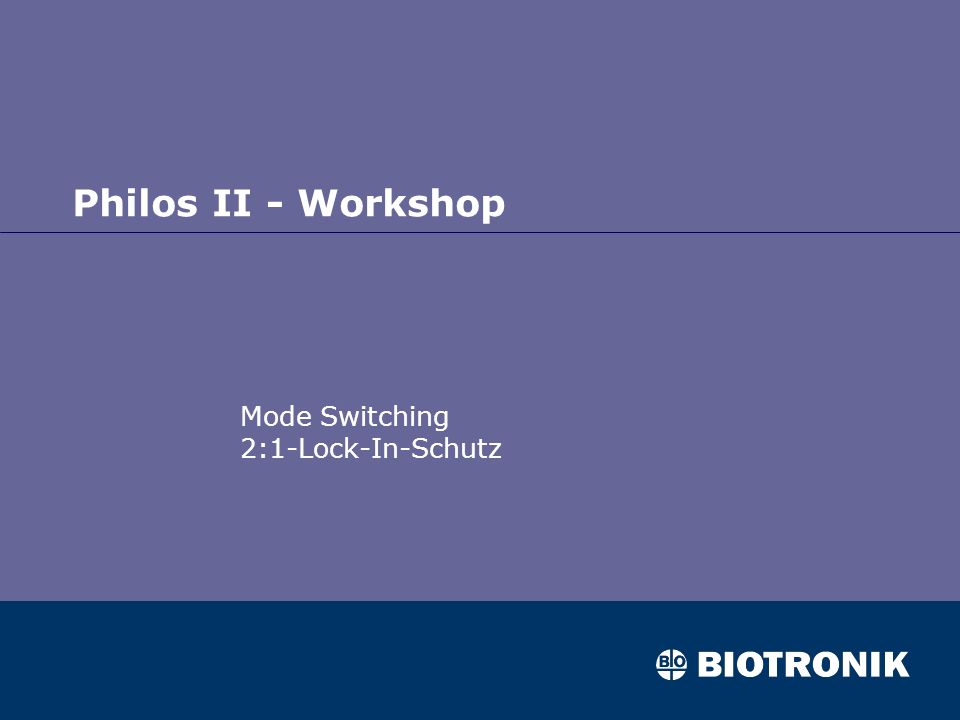 Mode Switching 2:1-Lock-In-Schutz