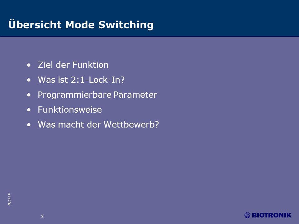 Übersicht Mode Switching