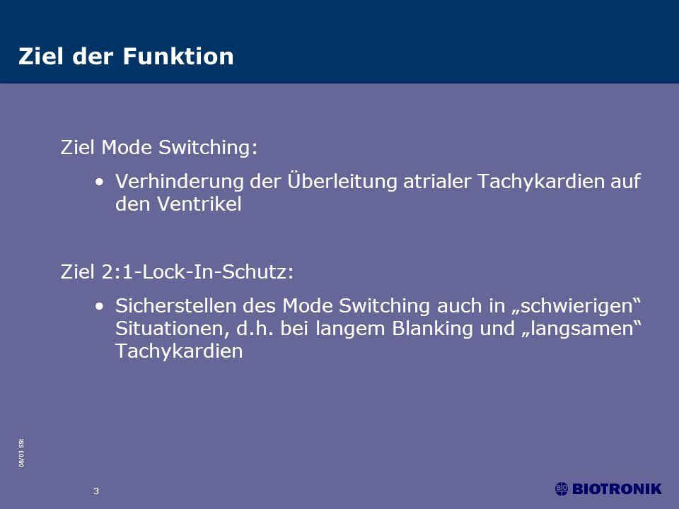 Ziel der Funktion Ziel Mode Switching: