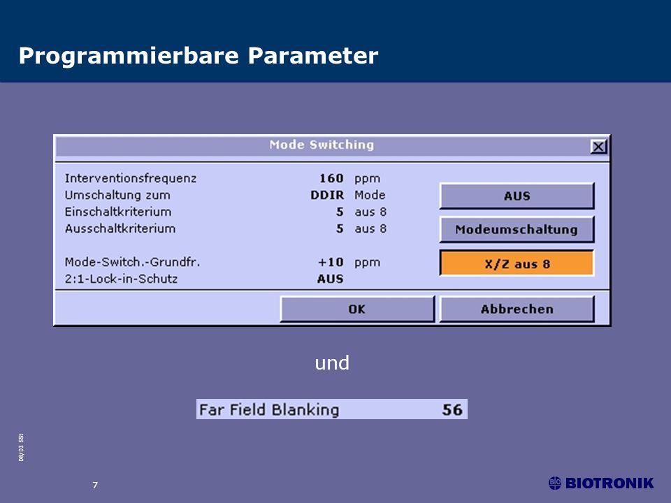 Programmierbare Parameter