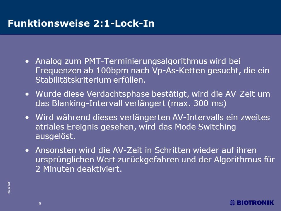 Funktionsweise 2:1-Lock-In