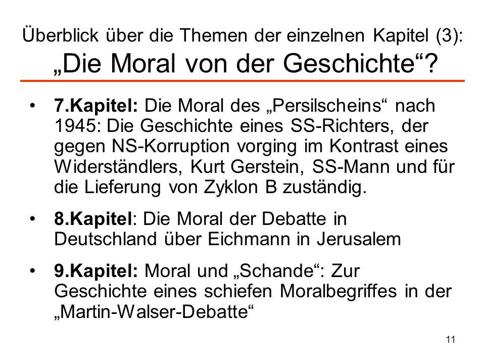 """Überblick über die Themen der einzelnen Kapitel (3): """"Die Moral von der Geschichte"""