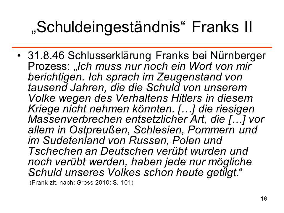 """""""Schuldeingeständnis Franks II"""